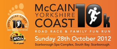 McCain Yorkshire Coast 10K road race & Family Fun Run.