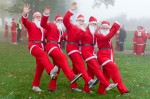 St Catherine's Hospice Santa run at Chartham Park golf club -