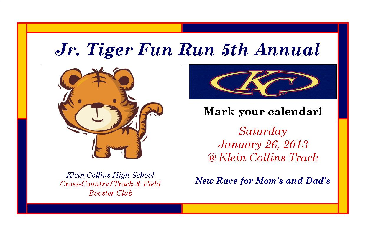 5th Annual Junior Tiger Fun Run & Meet the Tigers