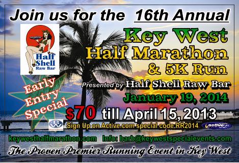 16th Annual Key West Half Marathon & 5K Run