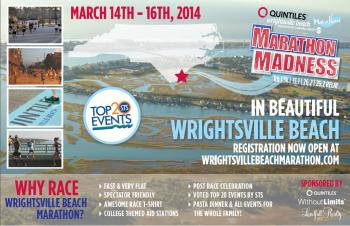 Quintiles Wrightsville Beach Marathon Madness Half, Full 5K, 1 Mile