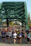 Marathon of the North 2012 - Runners crossing Wearmouth Bridge