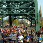 Marathon of the North 2012 - Runners crossing Wearmouth Bridge