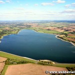 aerial photograph of Draycote water Warwickshire England UK