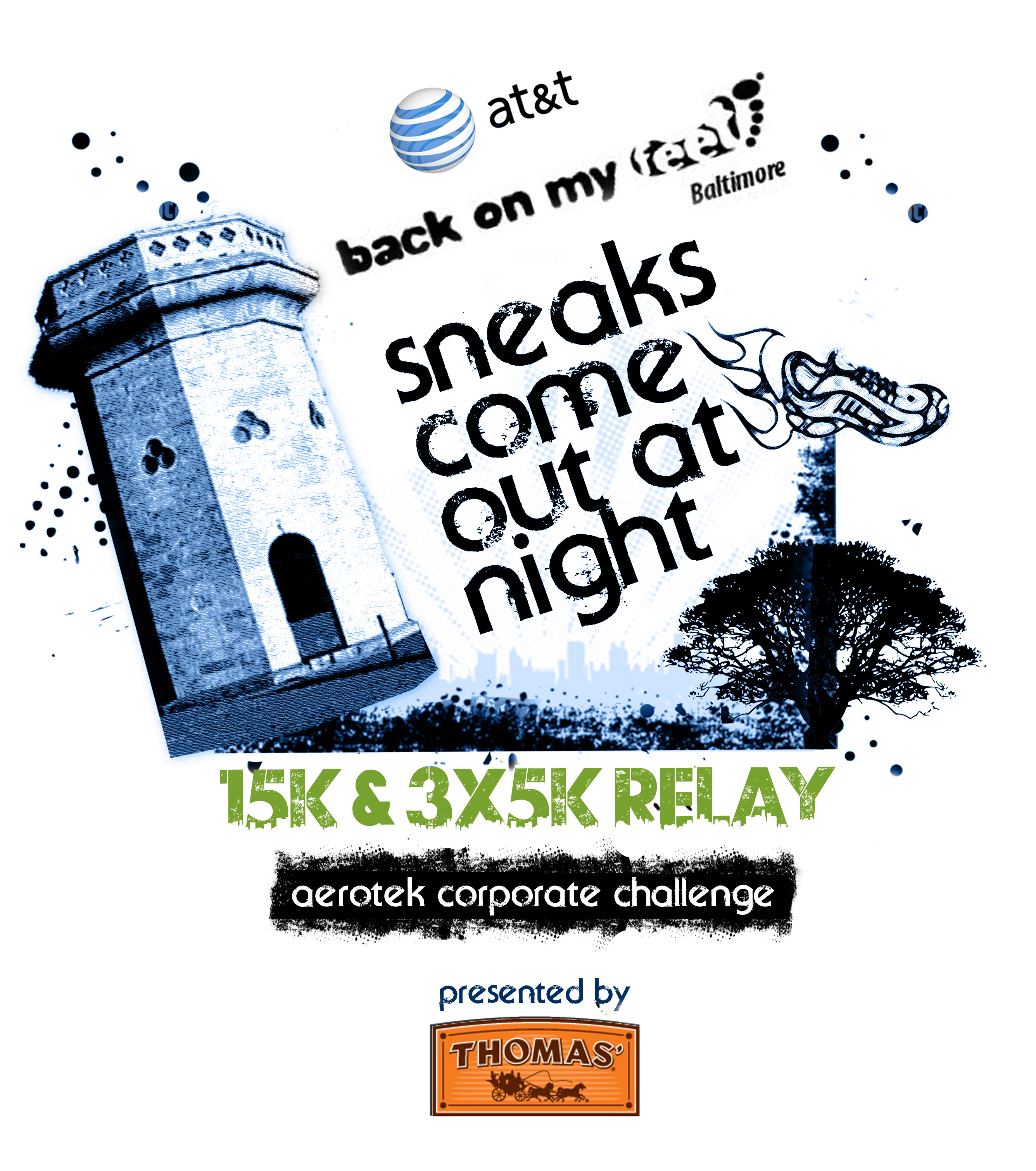 The AT&T Back on My Feet Baltimore Sneaks Come Out at Night 15K, 3x5K Relay & Aerotek Corporate Challenge presented by Thomas'