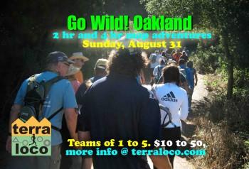 Go Wild! Oakland 2 hr, 4 hr Map Adventure