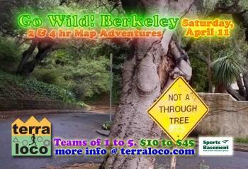 Go Wild! Berkeley 2 hr, 4 hr Map Adventure