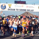 The start of the 2014 Bethpage Ocean to Sound Relay