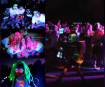 Glow in the dark running event