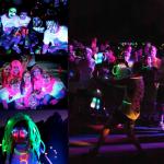 Glow in the dark running event