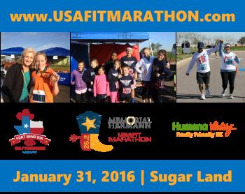 8th Annual Memorial Hermann USA FIT Marathon, Fort Bend Kia Half Marathon and Humana Vitality Family Friendly 5K