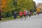 5K runners approach Bruce Street