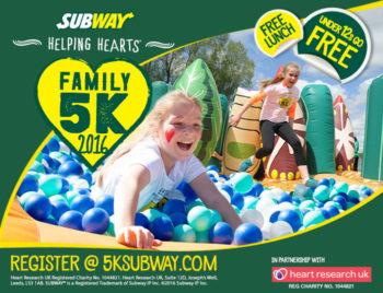 SUBWAY Helping Hearts™ Family 5K fun run, 19 June 2016