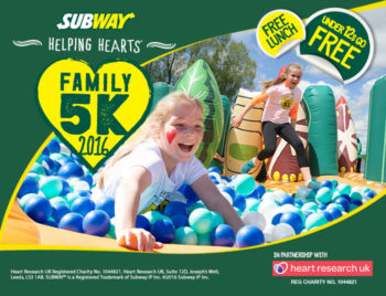 SUBWAY Helping Hearts™ Family 5K fun run, 25 September 2016