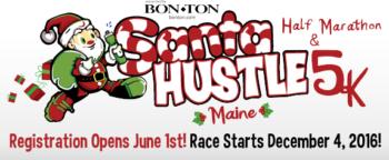 Santa Hustle New England 5k & Half Marathon