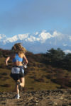 Runner on Himalayan Race Trail