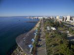 Aerial view of Molos, start and finish of Limassol Half Marathon