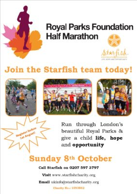 Run for Starfish in the Royal Parks Half Marathon