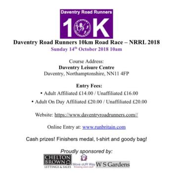 Daventry Road Runners 10k