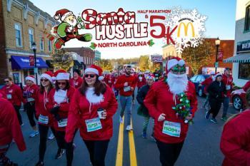 Santa Hustle Half Marathon, 5k, and Kids Dash North Carolina