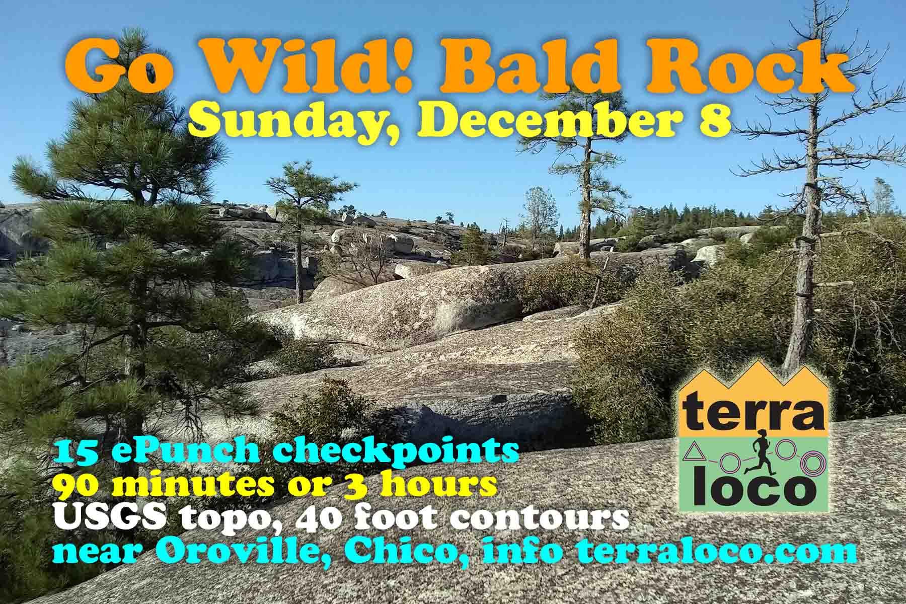 Go Wild! Bald Rock 90 min, 3 hr