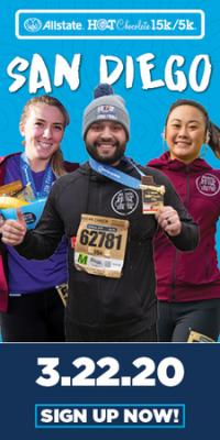 2020 Allstate Hot Chocolate 15k/5k San Diego