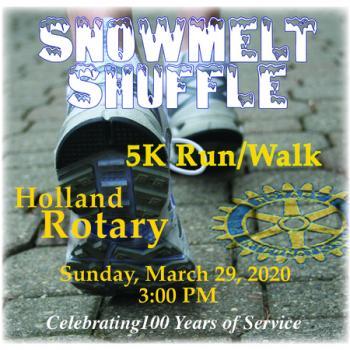 SnowMelt Shuffle 5K Run/Walk March 29th On Hollands Snow Melt Downtown