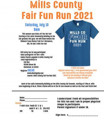Mills County Fair Fun Run 2021