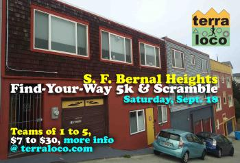 S.F. Bernal Heights Find-Your-Way 5k & Scramble