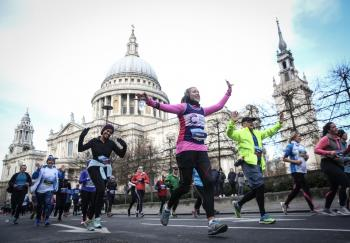 Cancer Research UK London Winter Run Sunday 13th February 2022 Trafalgar Square