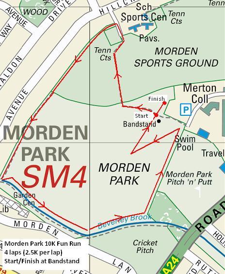 Morden Park 10K Charity Fun Run
