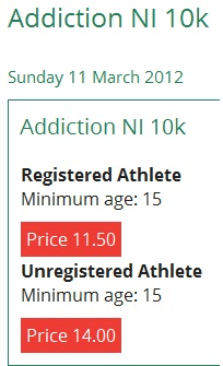 Addiction NI 10K Run, Belfast