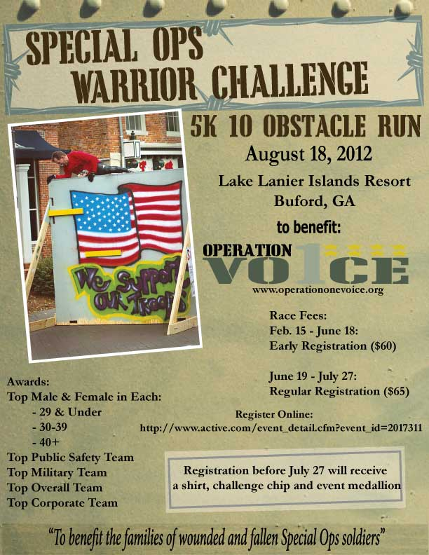 Operation One Voice Special Ops Warrior Challenge 5K 10 Obstacle Run